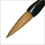 賞状筆耕に用いる筆の手入れ